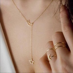 Jewelry - DAINTY GOLD NECKLACE MOON AND STAR